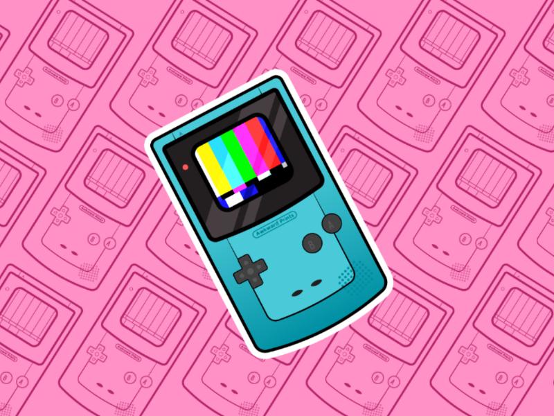 Gameboy Color Sticker sticker zelda mario retro gaming retro classic gameboy color gameboy nintendo