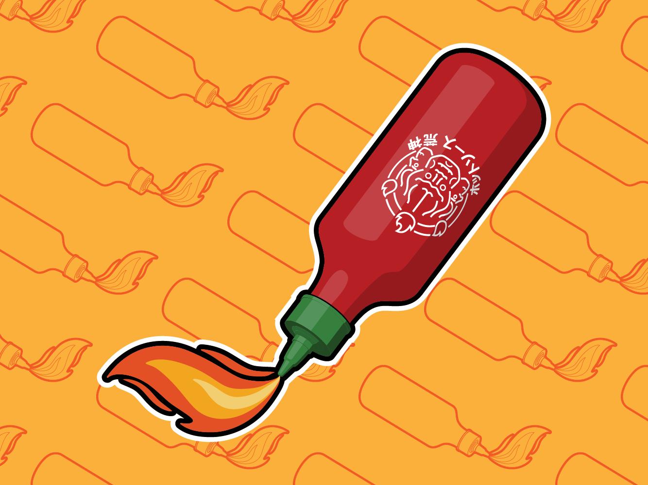 Hot Sauce Sticker spicy red food hot sauce vector design sticker