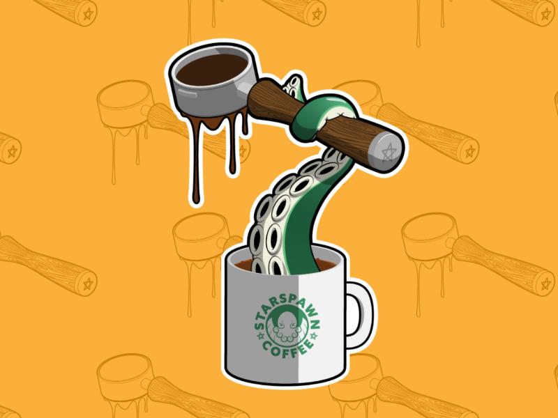Espresso Tentacle Sticker espresso starbucks sticker cup coffee cthulhu tentacle