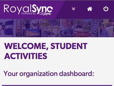 RoyalSync Custom User Interface