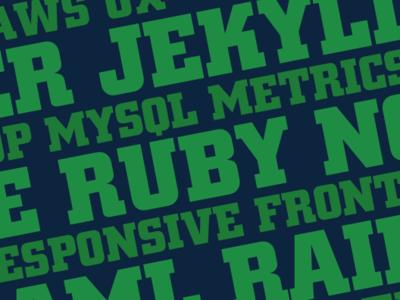 Developer Cover Photo frontend responsive metrics ruby mysql aws jekyll developer development design