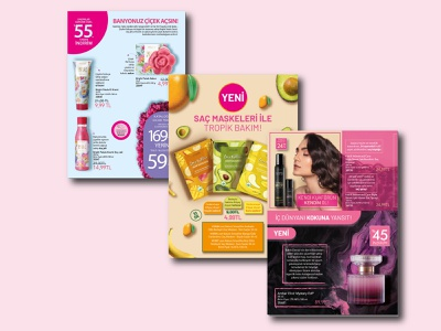 Catalog design Cosmetics happy woman girls pink graphic cool very catalog design catalog cosmetics ux vector ui logo cafe illustration design black graphic design branding