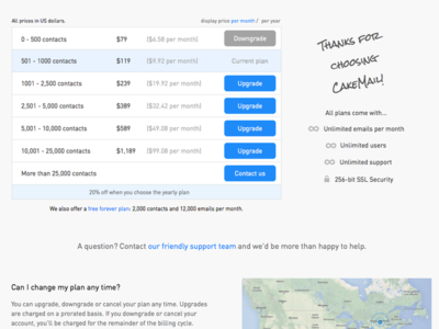 Redesigned Billing Page