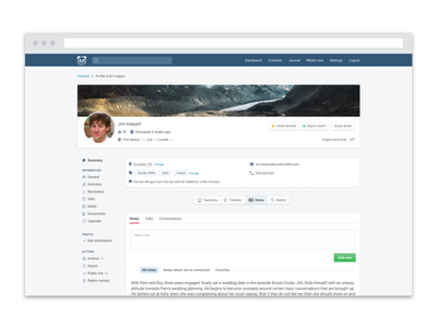 Profile page breadcrumb favorite tag tags contact page contact profile ui saas