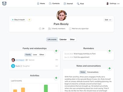 👩🦰 Profile Page avatar list nunito saas profile monica