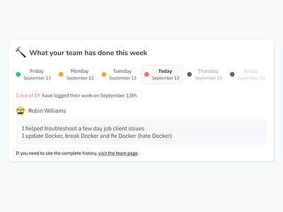 Team work logs v2 calendar tool widget ui saas
