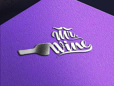 Mr. wine logo vector branding winelogo logomockup logomodern illustration logotype logofolio logodesign