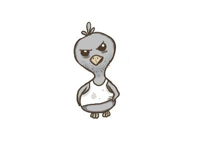 Cattle Pigeon illustration pigeon bird cartoon character
