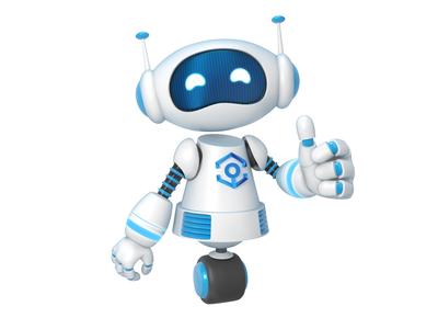 Robot robot character 3ds max cartoon illustration 3d
