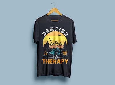 Camping t shirt Design