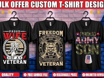 Army Veteran T-shirt Design. design illustration logo ui branding minimal graphic design illustrator typography mother son profession usa freedom army veteran graphicsdesign tshirtdesign tshirt