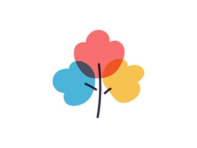 flower vector plant flower logotype design illustration flat icon logo symbol mark