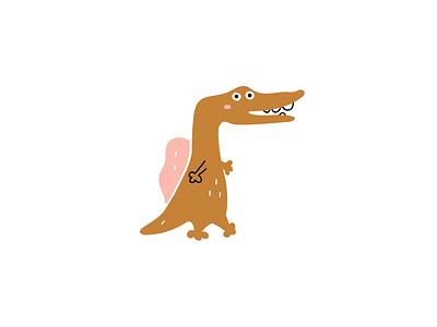 Dino dino children kids dinosaur animal design illustration