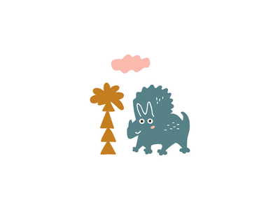 Dino hand drawn design vector illustration animal nursery art nursery dinosaur dino kids art