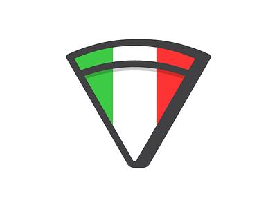 Pizza food fast italy pizza icon symbol mark logo