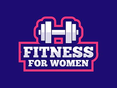 Fitness for women gym sport barbell fitness icon symbol mark logo