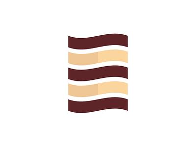Tiramisu building icon symbol mark logo