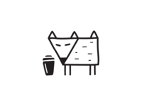 fox and coffee