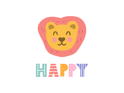 lion vector scandinavian design scandinavian style animal lion design illustration flat icon symbol mark