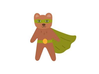super bear bear superheroes superhero animal design logotype illustration flat icon logo symbol mark