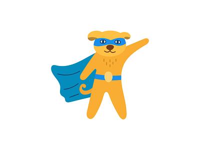 super dog superheroes super hero superhero dog animal design illustration flat icon logo symbol mark