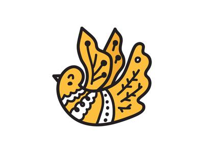 dove christmas dove vector animal design illustration flat icon logo symbol mark