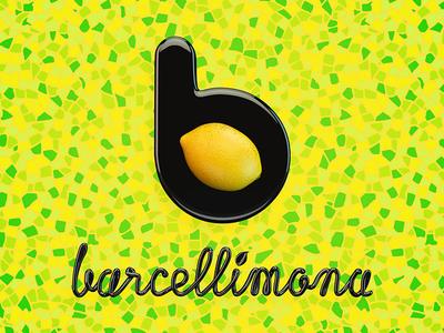 Barcellimona Logo barcelona logo juice lemon bar branding