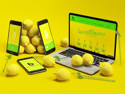 Barcellimona Website and App barcelona juice bar lemon 3d website app ios