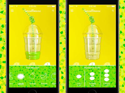 Barcellimona App ios mobile app barcelona juice bar lemon