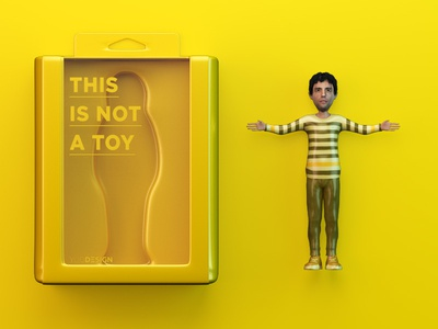 Mini-Me Is not a Toy character 3d toy packaging action figure