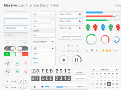 Massive UI Design Pack, vol. 1