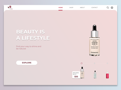Beauty products website simple simple design mauve cosmetics beauty product beauty website design website webdesign web ui nonprofit minimal figma design