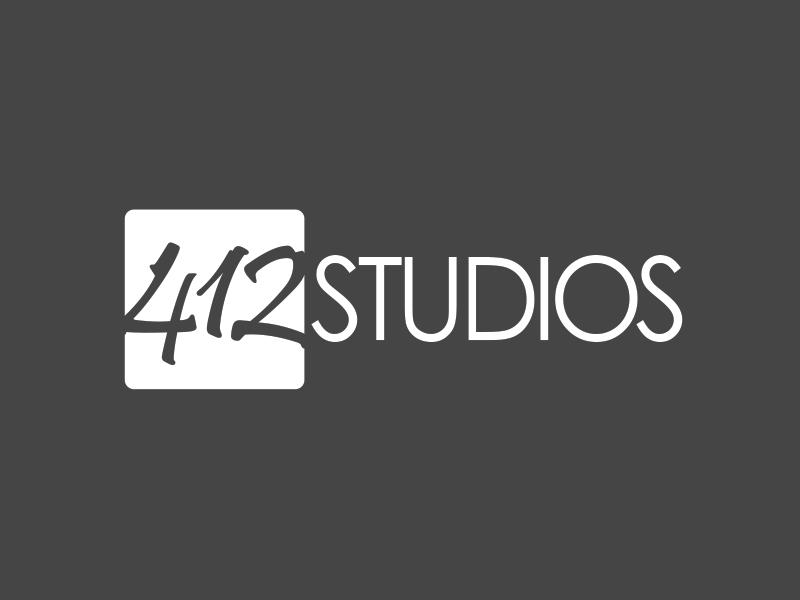 412 Studios Logo 2x branding graphic design identity logo logo design
