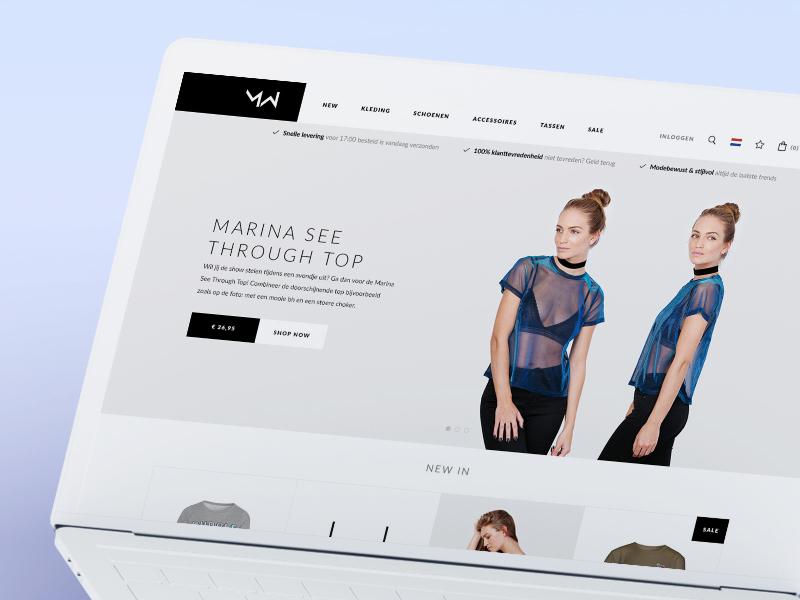 MostWantedNL - Redesign ecommerce redesign shop mostwantednl