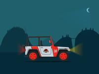 Jurassic Park Jeep