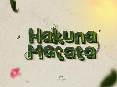 Hakuna Matata - Typograhic artwork