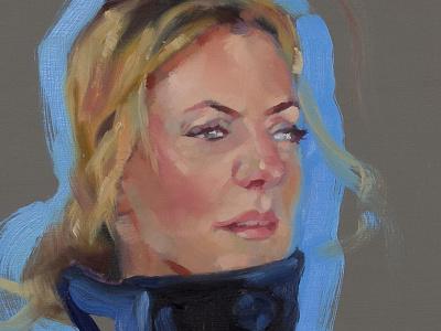 Social Portrait 016 Crystal oil socialportraits portrait painting art