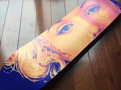 Painted deck skate marilyn skateboard deck painting