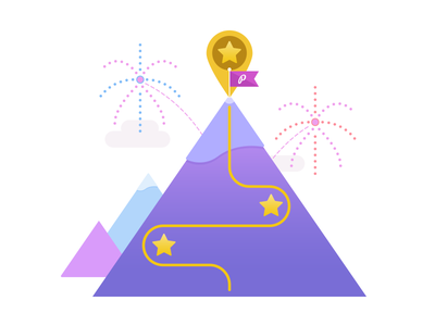 Celebrating Completion progress pagecloud illustration success