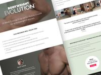 Bodyweight Evolution - Site Design