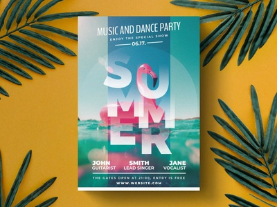 Summer Party Flyer Template advertising branding party design party flyer party flyer templates flyer template flyer design flyer poster template print design poster design posters poster print template print summer party summer flyer party summer flyer summer