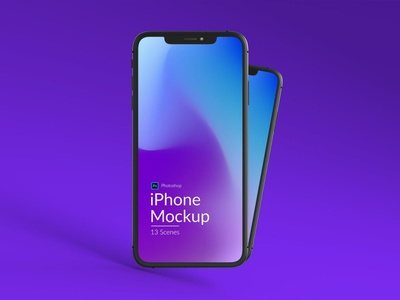 Iphone and MacBook Promo Mockups iphone mockups iphone mockup macbook iphone web promo store web store online presentation website cold blue holographic gradient purple multiple chic realistic minimal simple