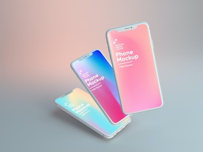 Light Leaks Iphone Mockups website webpage web ux ui presentation theme macbook mac laptop display simple clean realistic phone mockup smartphone device mockup abstract phone