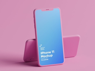 Pink Iphone Mockups Pack website webpage web ux ui presentation theme macbook mac laptop display simple clean realistic phone mockup smartphone device mockup abstract phone