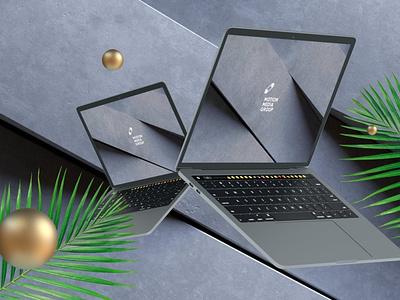 Black Laptop Mockups delightful shiny graceful glossy minimalist device laptop mockup light website webpage web ux ui presentation theme mockup macbook mac laptop display
