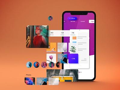 Phone Mockup website webpage web ux ui presentation theme macbook mac laptop display simple clean realistic phone mockup smartphone device mockup abstract phone