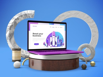 Abstract MacBook Pro Mockups website webpage web ux ui presentation theme macbook mac laptop display simple clean realistic phone mockup smartphone device mockup abstract phone
