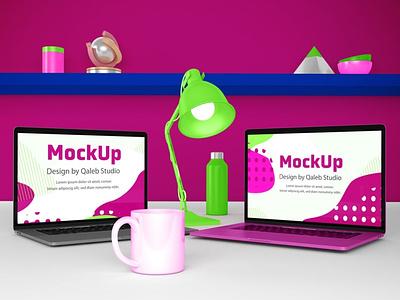MacBook Desktop Mockups webpage web ux ui presentation theme mac laptop display simple clean realistic phone mockup smartphone device mockup phone abstract dekstop macbook