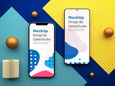 IOS & Android Device Mockups website webpage web ux ui presentation theme macbook mac laptop realistic display simple clean mockups smartphone device mockup abstract phone