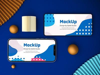 IOS & Android Device Mockups website webpage web ux ui presentation theme macbook mac laptop display simple clean realistic phone mockup smartphone device mockup abstract phone